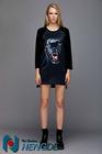 newest fashionable T-shirt,print tiger ladies T-shirt, YXQ038
