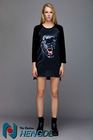 newest fashionable T-shirt,print tiger ladies T-shirt, YXQ038