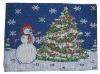 jacquard christmas design place mat
