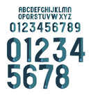 Soccer printing numbers letters, sticker, film
