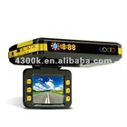 HD dvr recorder with GPS and 3D G-Sensor and speed RADAR detector