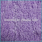 Dyed shu velveteen knit fabric
