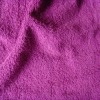 Dyed 100% cotton terry warp fabric material