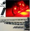 6pc RED 5050 LED FLEXIBLE LED STRIP KIT MOTORCYCLE LIGHTS