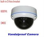 "CCTV Security 600TVL 1/3"" CMOS 3-Axis Vandalproof Dome Camera"