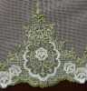 Hot Embroidery Voile Lace Fabric