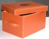 Leather storage boxes