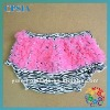 Most cute Zebra ruffle baby bloomers