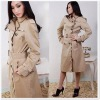 wholesale carrer 100% cotton women's dust coat 0622BU06