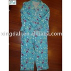 pajamas/night gown/sleepwear/printed flannel