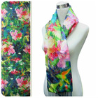 woman long digital print custom design silk scarves