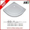 13cm Height quadrant white fiberglass acrylic deep shower tray