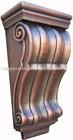 hammered copper corbels