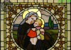 stained glass panel for church