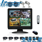H.264 4CH stand-alone network dvr with 15inch color LCD and 4 cctv cameras