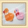 Hand crochet flower duck applique
