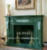 Green Stone Indoor Fireplace