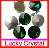 2012 newest point back crystal rivoli shape for jewel