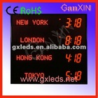 alibaba express digital time led world clock with CE,RoHS approved