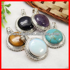Gemstone Pendants with Brass Findings(G-E031-M)