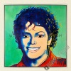 Michael Jackson Green, 100% Handmade POP Oil Painting Canvas Reproduction of Andy Warhol