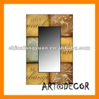 High glossy MDF UV Lacque make up wooden mirror frame