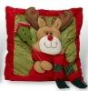 glamorous christmas reindeer throw pillow