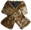 TIGER PRINTED FAKE FUR SCARF