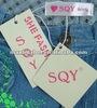 beautiful garment hang tags