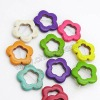 Fashion howlite color flower beads for jewelry bracelets making