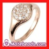 Cheap Rose Gold Plated Crystal Engagement Rings