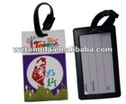 soft pvc luggage tag ,rubber baggage tag