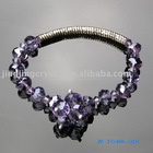 Crystal purple color crystal bead bracelet