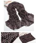 women's fashion chiffon digital print silk scarf in many colors