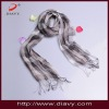 check scarf, fashion scarf, with nature material
