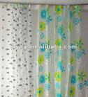 2012 Best sale new design translucent printed shower curtain