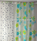 2012 Best sale new design translucent printed shower curtain