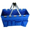 Foldable supermarket shopping basket