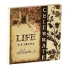 Life Celebrate with Flower Wood Fridge Magnets