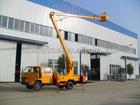 Hydraulic ladder with vehicle