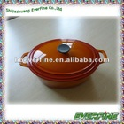 Cast iron casserole dish with lid
