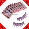Cheap! 10 Pairs Purple False Fake Eyelashes