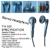 Stereo mp3/mp4 earphone