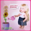 2013 new item flower can be watered with baby doll