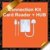3x Speed USB Hub Camera Connection Kit SD/MMC/MS Card Reader Combo Kit for iPad 1/2 KCR010