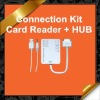 3x Speed USB Hub Camera Connection Kit SD/MMC/MS Card Reader Combo Kit for iPad 1/2 KCR010