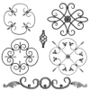 decorative wrought iron part