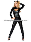 pvc queen of felines costume with headpieces S M L XL 2XL