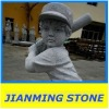Grey Granite Baseball Boy Statues