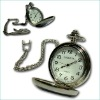 Bronze rock crystal pocket watch Quarz Fob Watch Turnip pocket watch